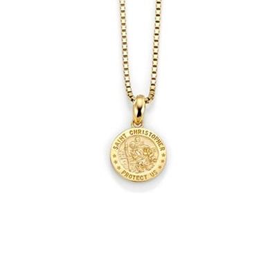 Mynt anheng i gull med 42cm kjede