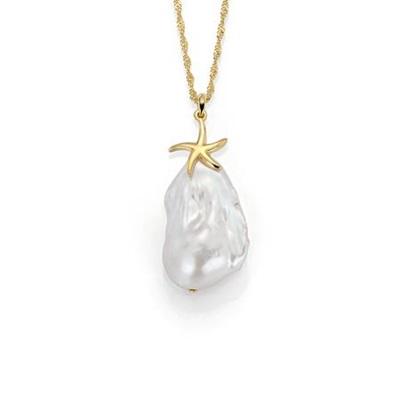 FantaSea Organic Pearl forg.anh.m/barokk perler,60cm