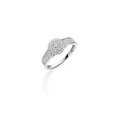 GD 100Diamonds GRACE hv.gull ring m/diamant 0,25ct W/SI