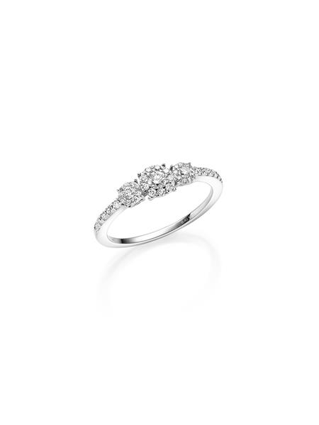 hv.gull frierring med diamant 0,45 ct W/SI