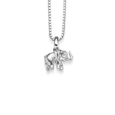 Lykkeelefanten Anheng i sølv 42cm kjede