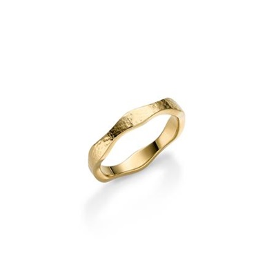 FantaSea Bølge Forgylt ring i sølv