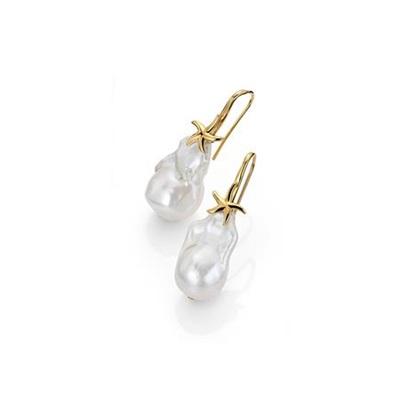 FantaSea Organic Pearl forg.ørepynt med barokk perle