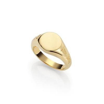 Forgylt ring i sølv