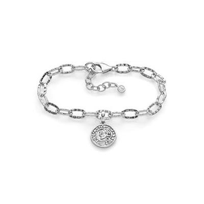Lykkemynt Armbånd i sølv 17,5+3cm