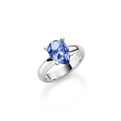 Bella Ring i sølv med zirkonia