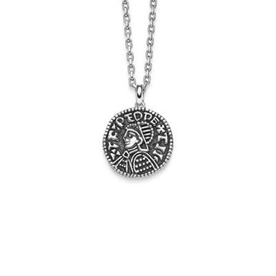 Lykkemynt Anheng i sølv 50cm kjede