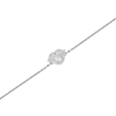 Valmue sølv armbånd 17,5+3cm
