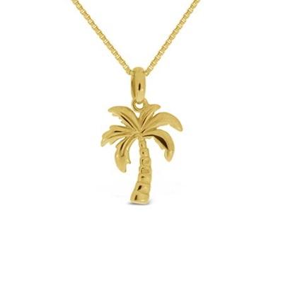 FantaSea Miami Palme Forgylt anheng i sølv 45cm