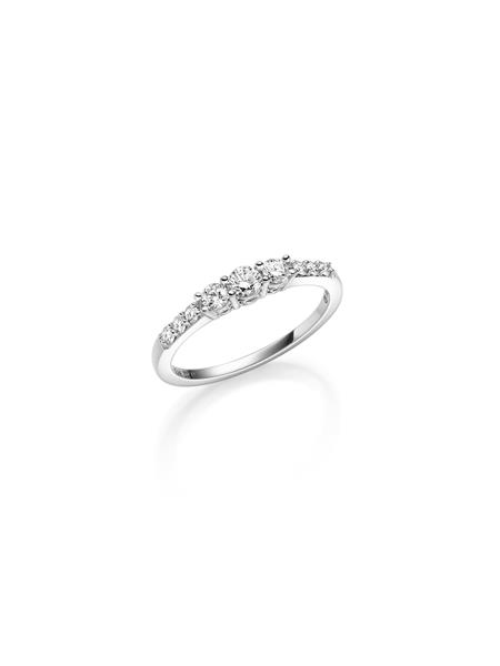 hv.gull frierring med diamant 0,42 ct W/SI