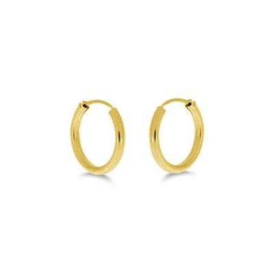 Øreringer i gull 585, 14mm