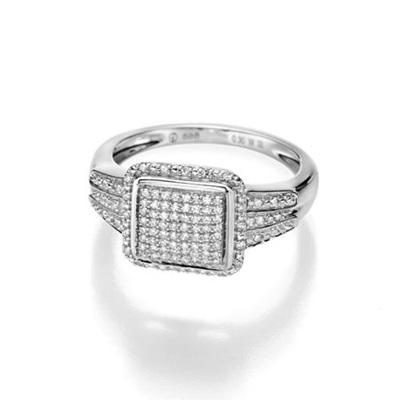 GD 100Diamonds DESIREE hv.gull ring m/diamant 0,30 ct W/SI