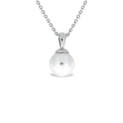 sølv anheng med 10mm perle