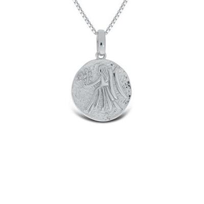 Jomfruen Lykketegn i sølv 24.august-22.sept 45cm