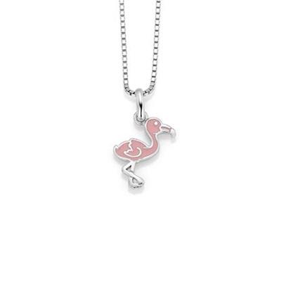 Flamingo anheng i sølv u/kjede.Ord 299,-