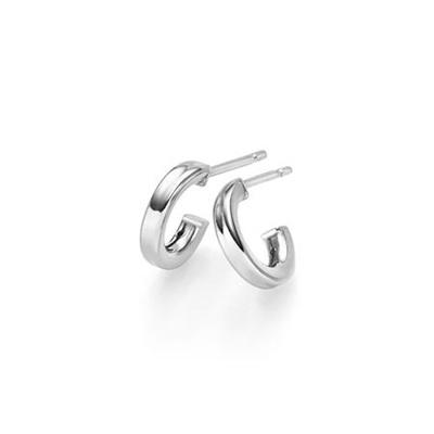 sølv ørepynt creol 10mm