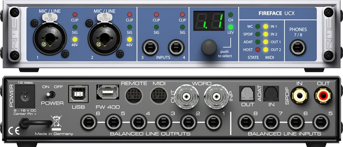 RME Firewire & USB Audio Interface 36-channel, 192kHz