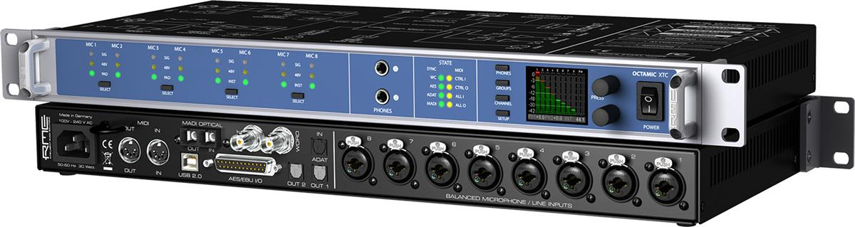 RME 8-Channel remote controllable preamp AD/DA converter.