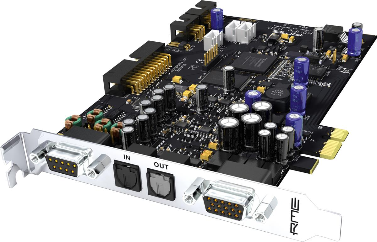 RME 32-Channel, 192 khz, PCI Express Card.