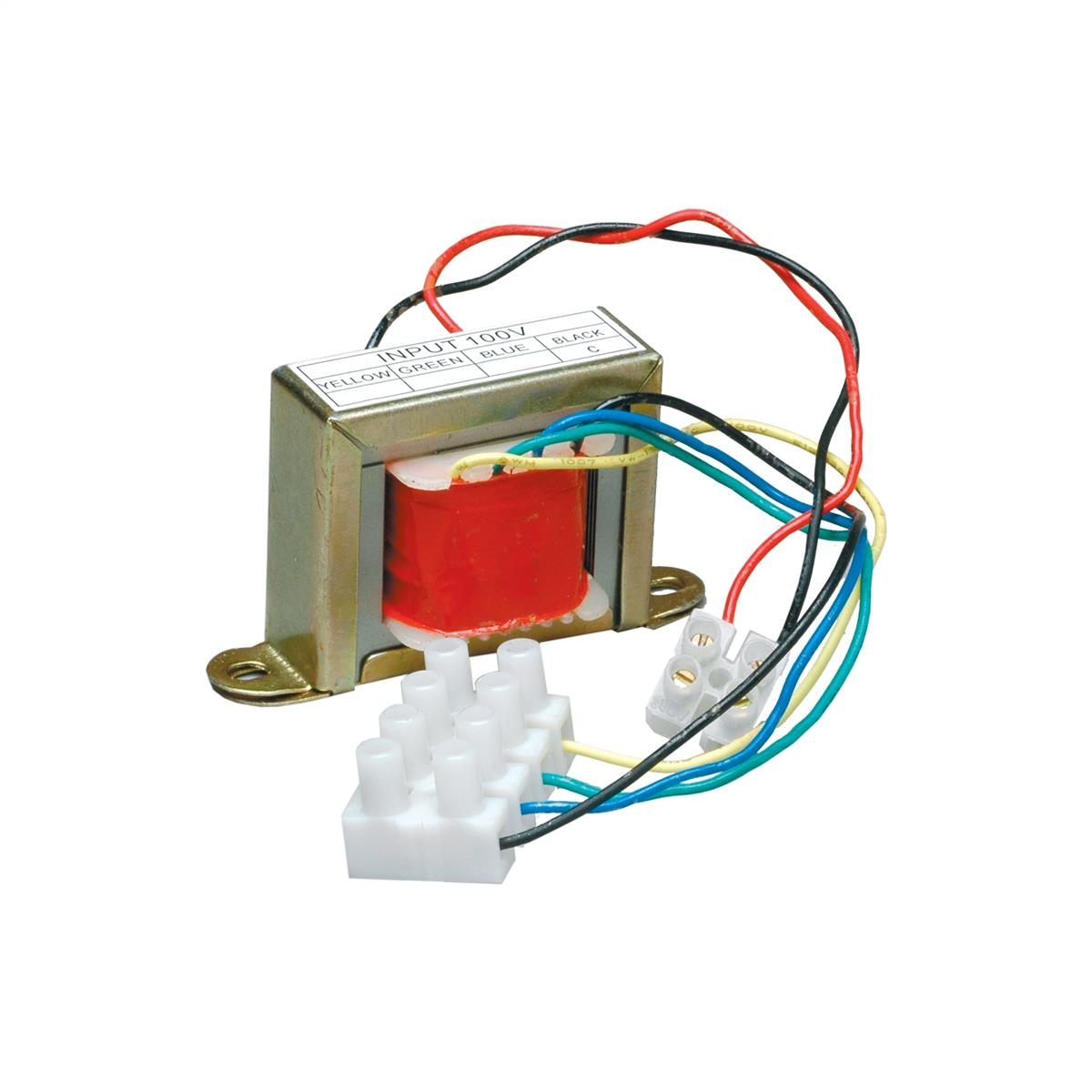 8 ohms to 100 volt transformer, power taps: 20-10-5-2,5W