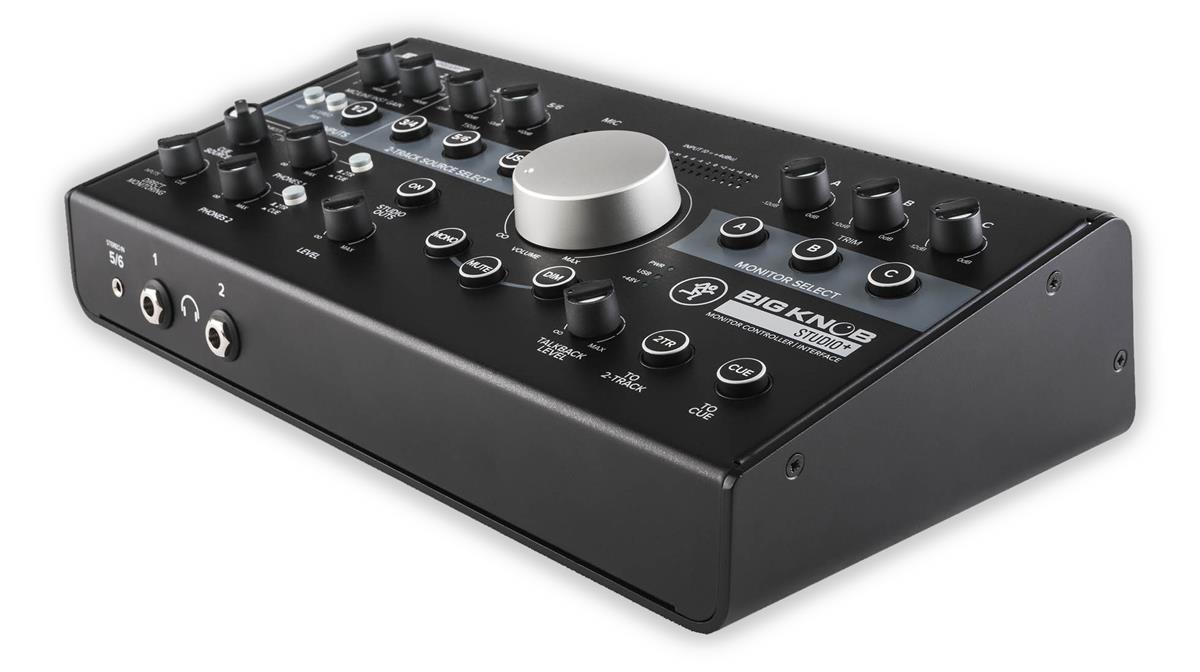 Mackie BigKnob, 4x3 studio monitor controller,192kHz,USB I/O