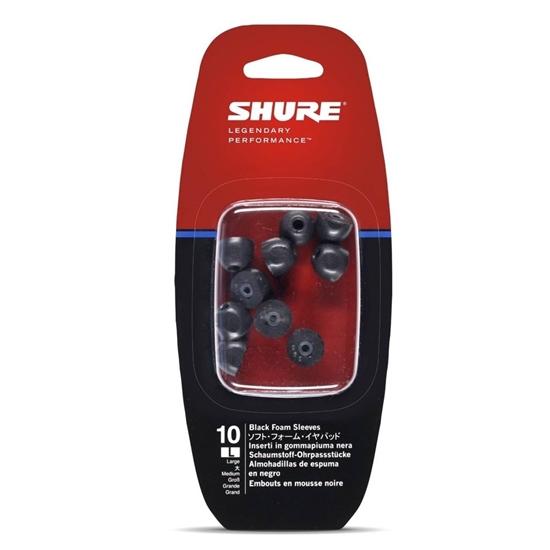 Shure EABKF1-10L Sort skumgummi (large) 5 par for SE-serien