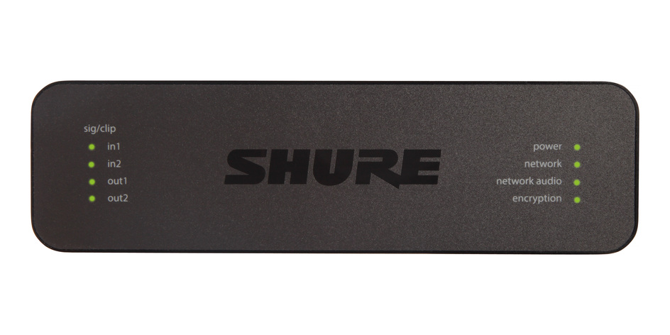 Shure ANI22-XLR 2 CH IN/2 CH OUT - DANTE 1/3 RU XLR