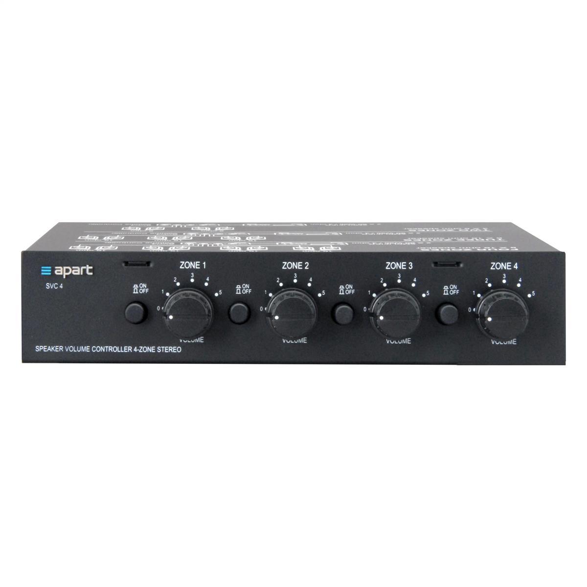 4-zone stereo volume control