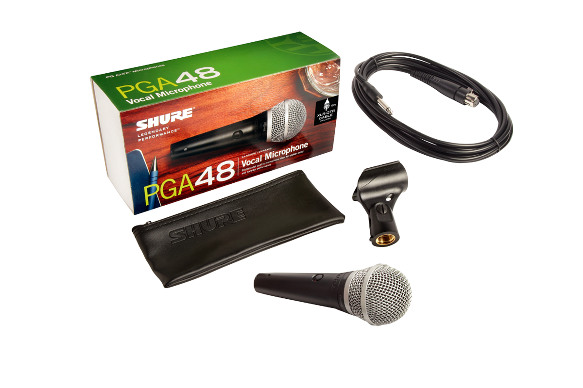 Shure PGA48-QTR-E HANDHELD MIC w 15FT 1/4in TO XLR CABLE