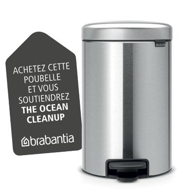 Brabantia Pedalbøtte 12 liter Matt Steel Fingerprint Proof