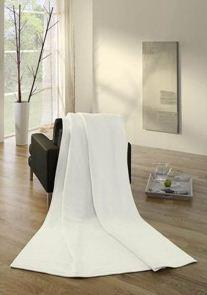 Pledd Cotton Pure Plain nature 150x200cm
