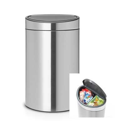 Brabantia Touch Bin Recycle matt steel 33L (10+23L) 100680