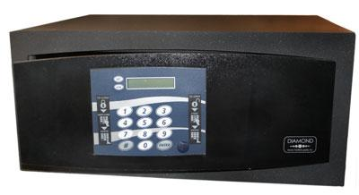 Safe NORDIC 622U black LaptopSafe med strömuttag