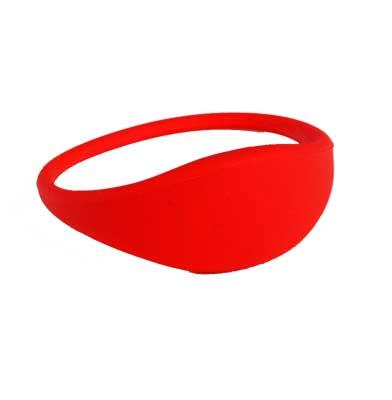 Keywristband 4K RFID XY-WD RED 13,56mhz Lady Size 10 stk