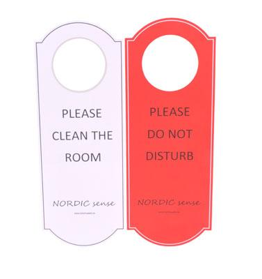NORDIC Sign Do not disturb/Please clean room/50 pcs