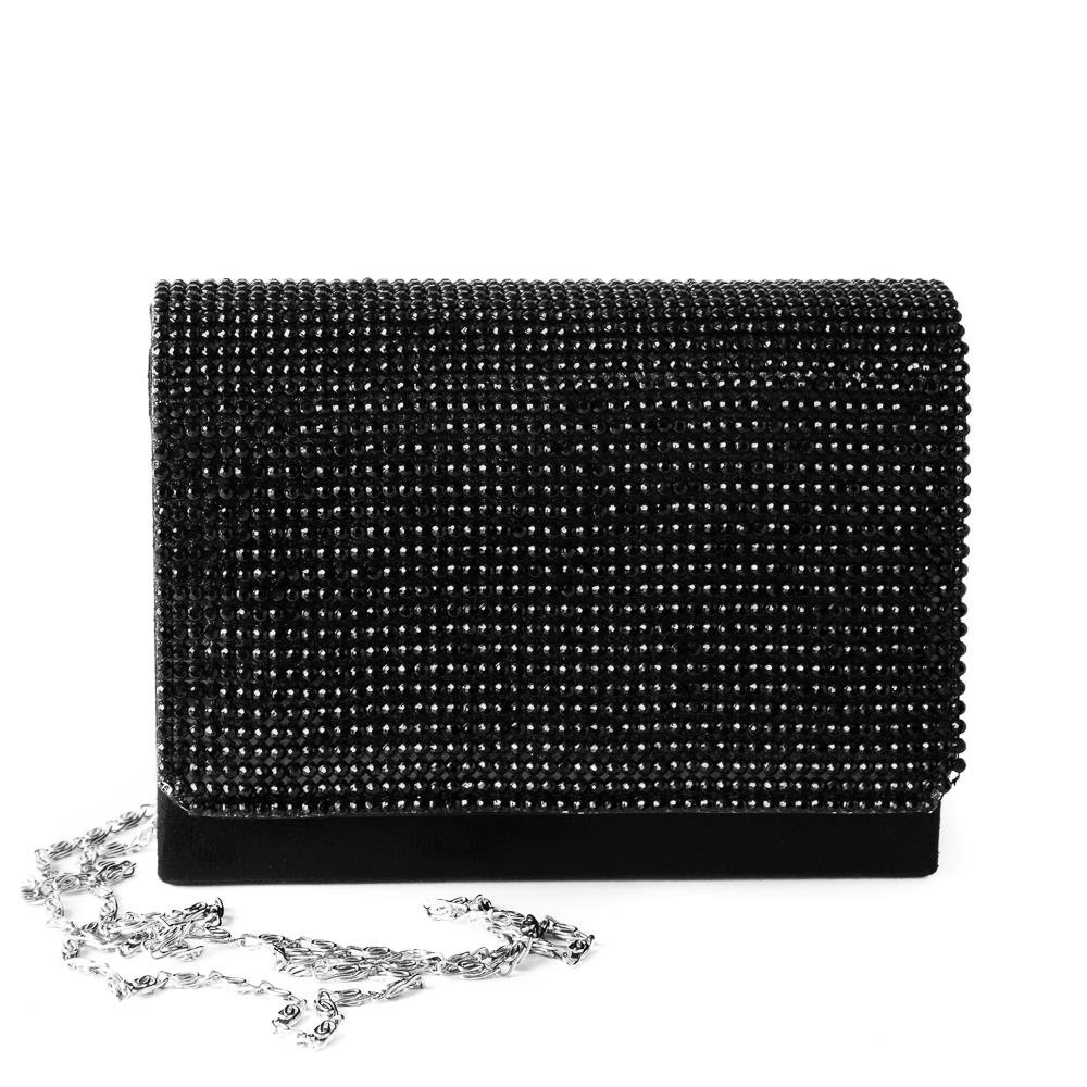 Bag crystalclutch black