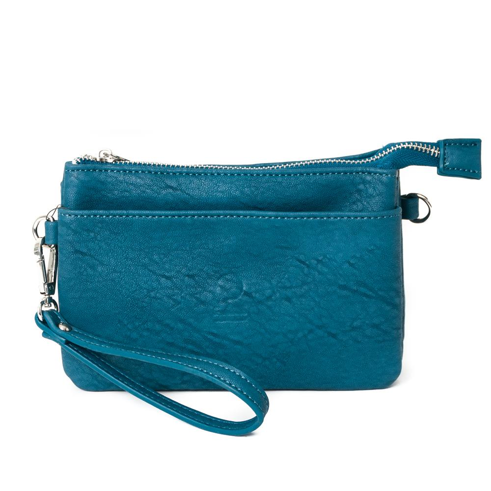 Bag, zipper pocket purse petrol