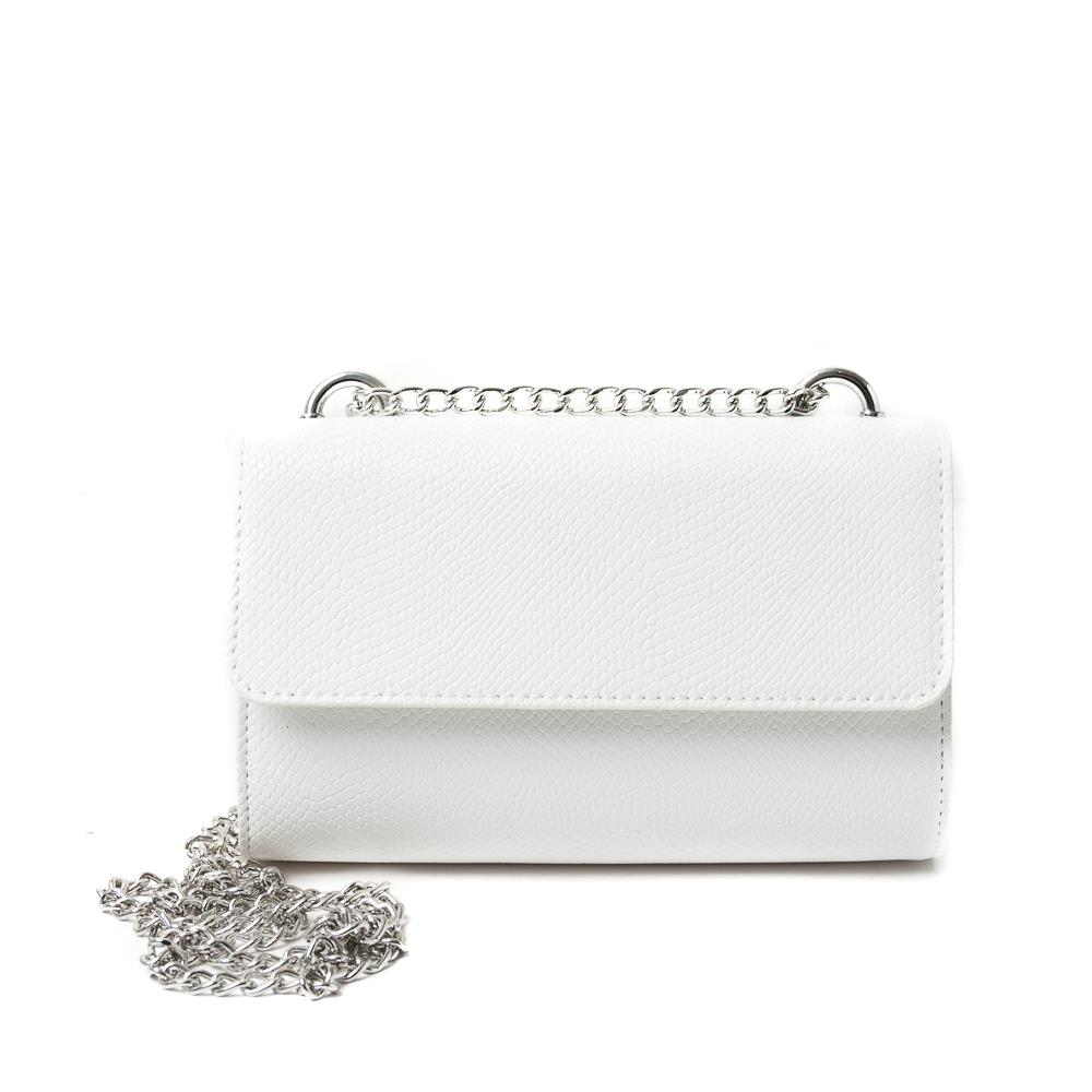 Bag, Party bag Snake with chain White