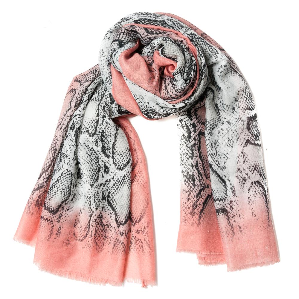 Scarf , snakeprint dusty pink