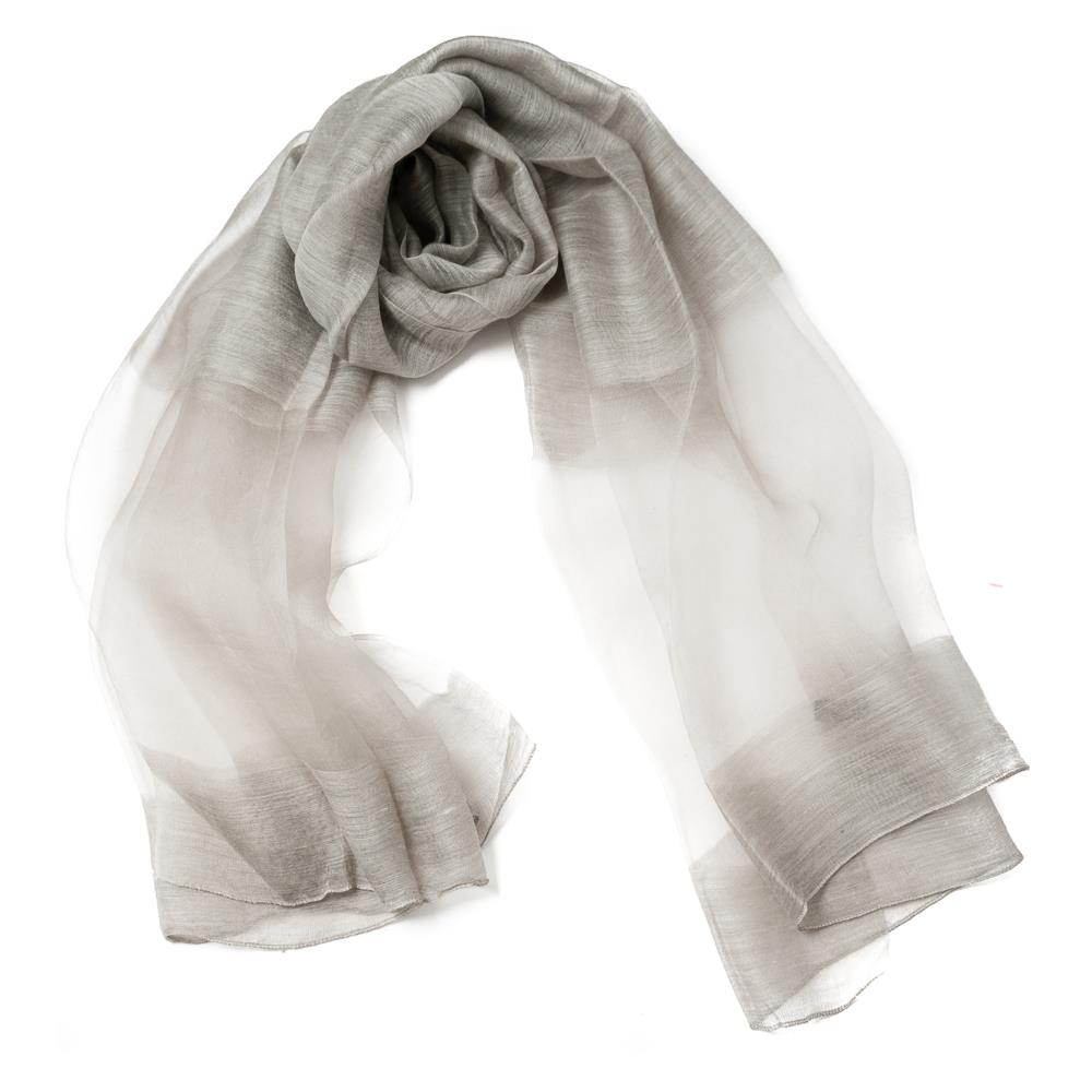 Scarf, party shawl silver