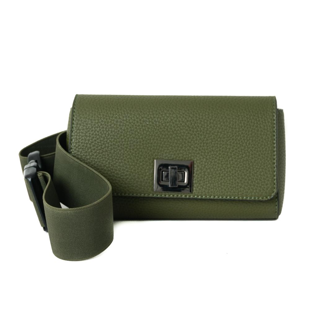 Bag, Dorothea elastic belt box army green