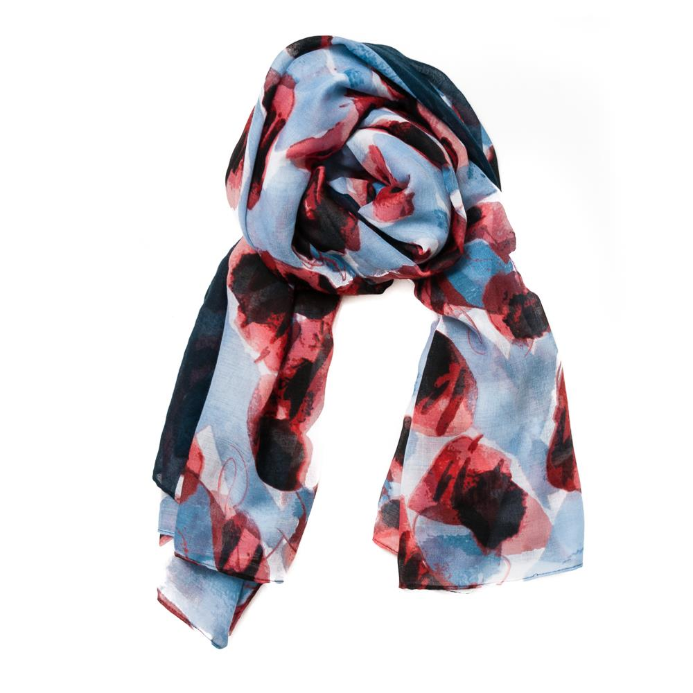 Scarf autum flowers w edge