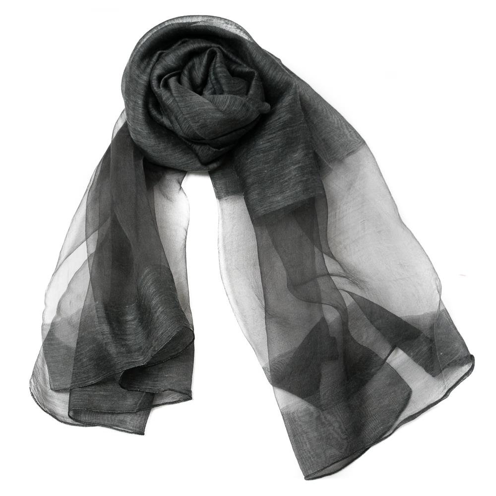 Scarf, party shawl blacksilver