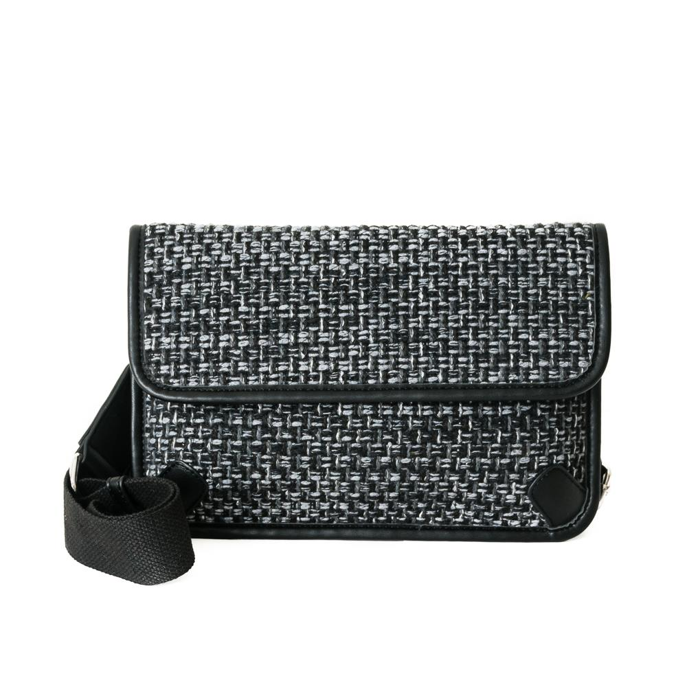 Bag, Tweed cross black