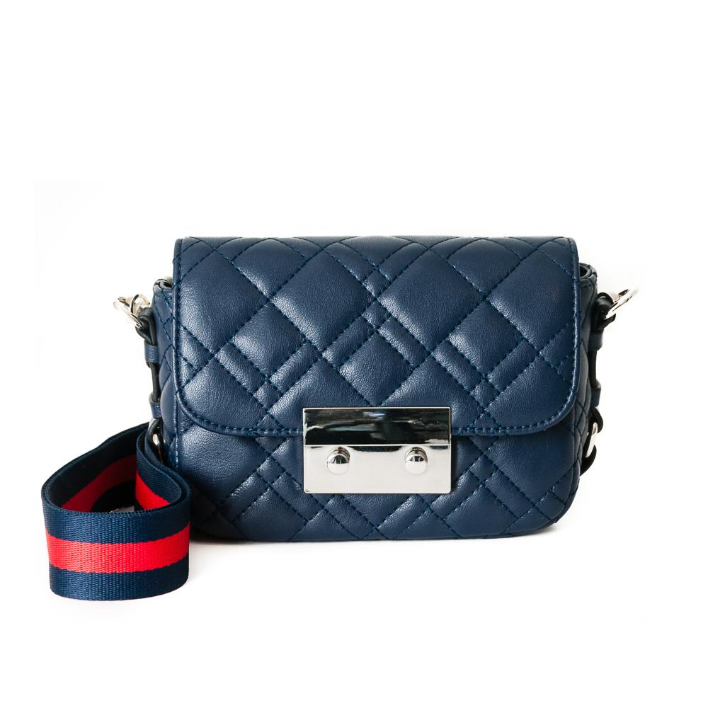 Bag, waffle stitches clutch navy