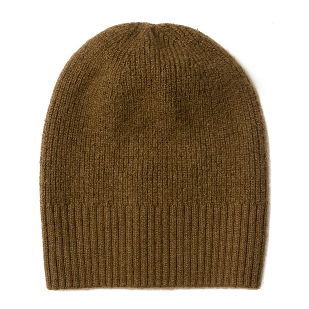Hat, knitted wool plain army