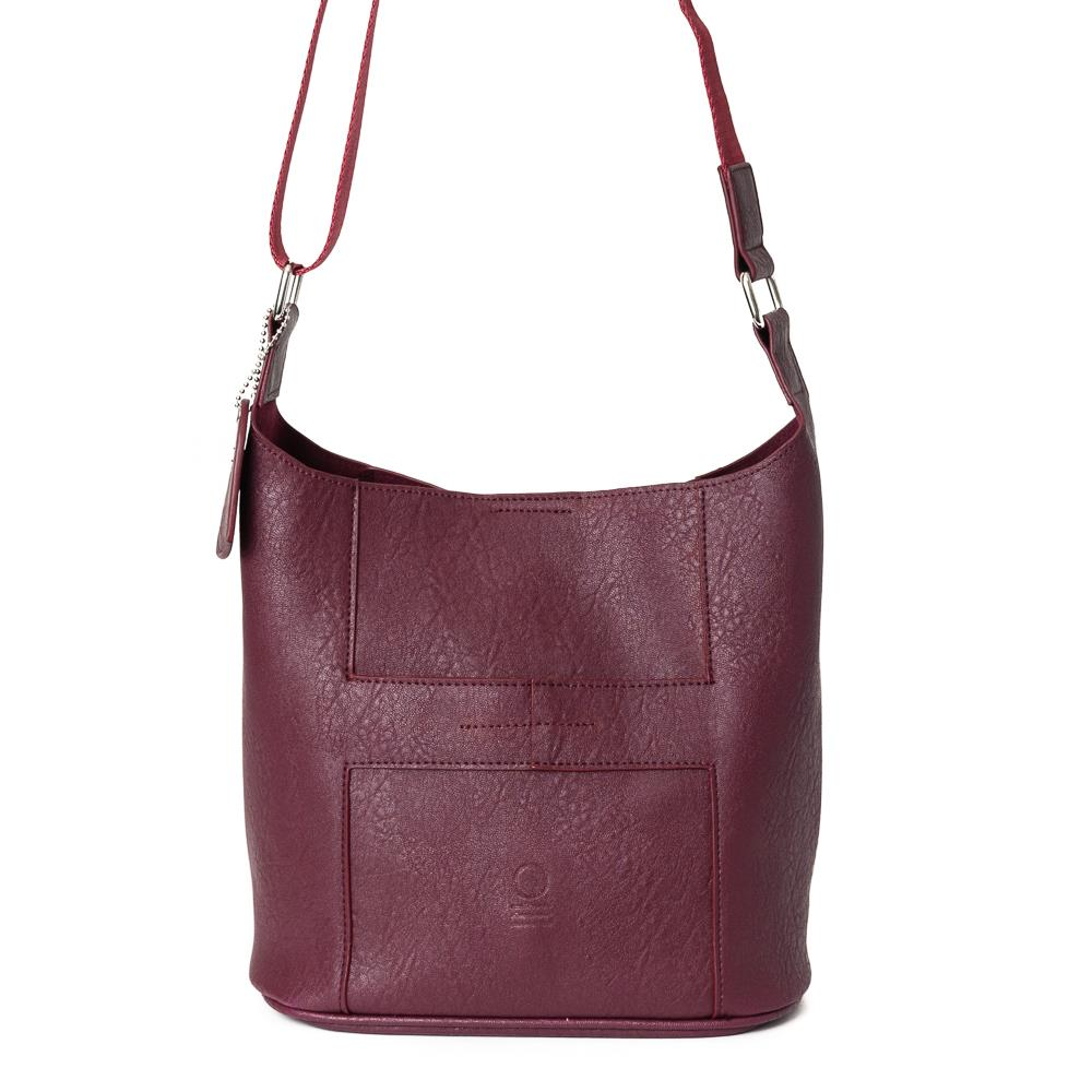 Bag, small soft cross bordeaux