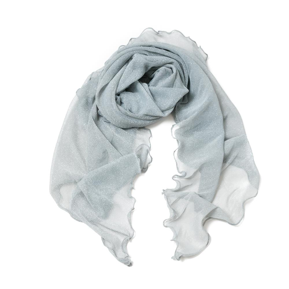 Scarf, party shawl volange silver