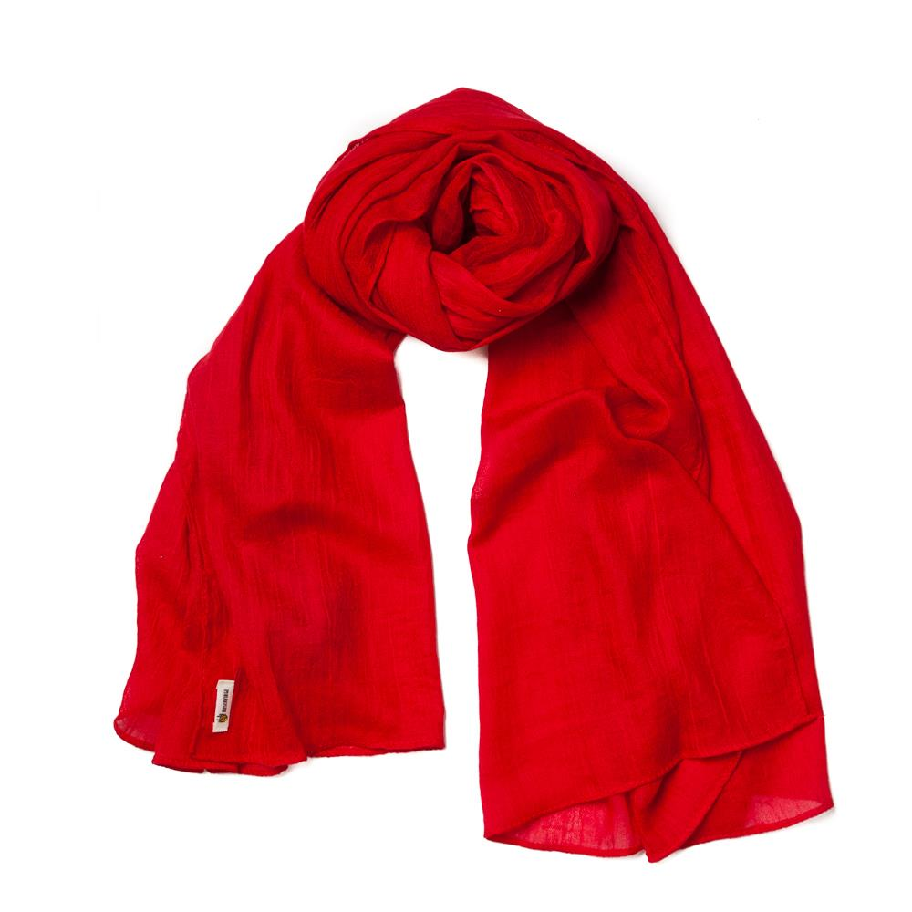 Scarf, small modal red