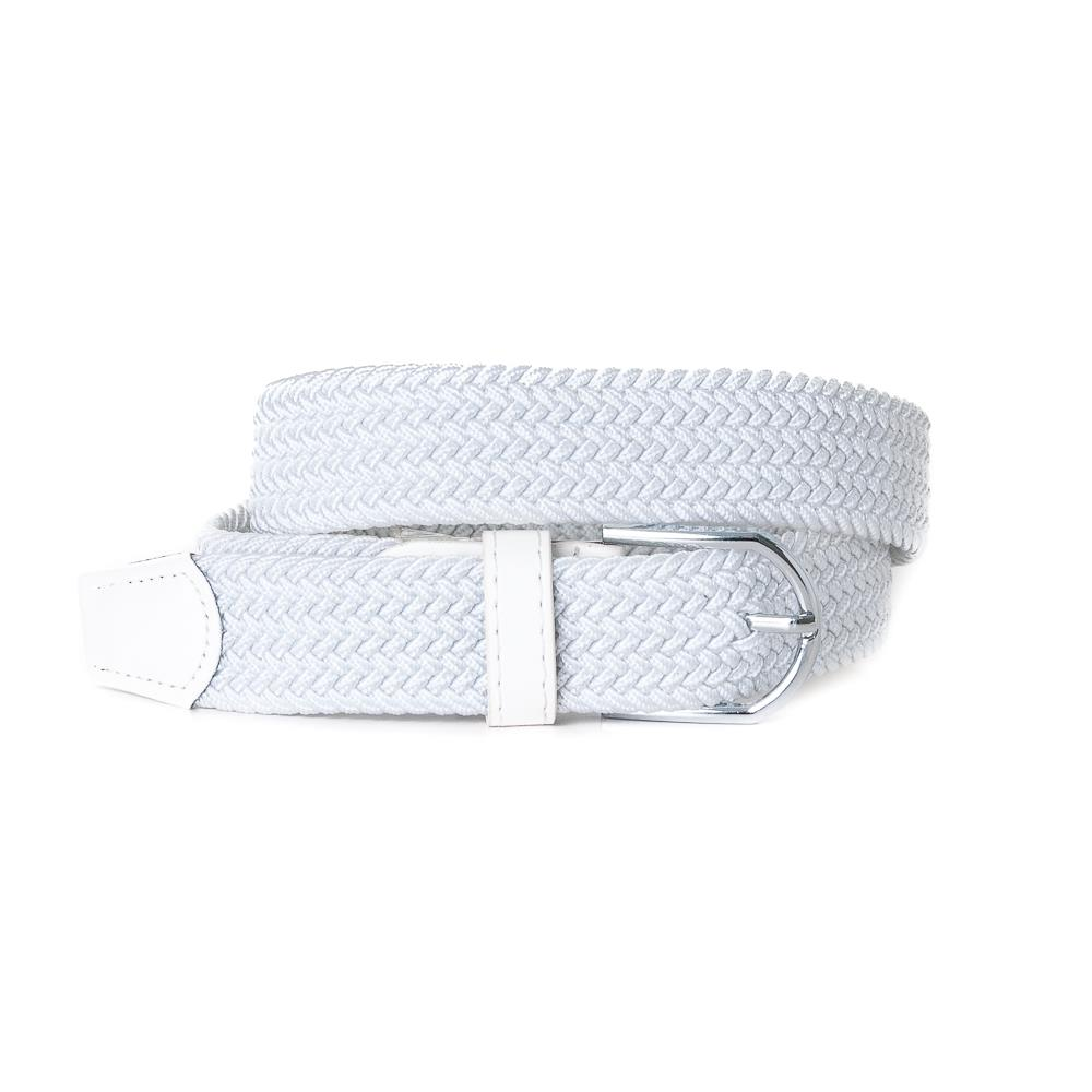 Belt, elastic braided White
